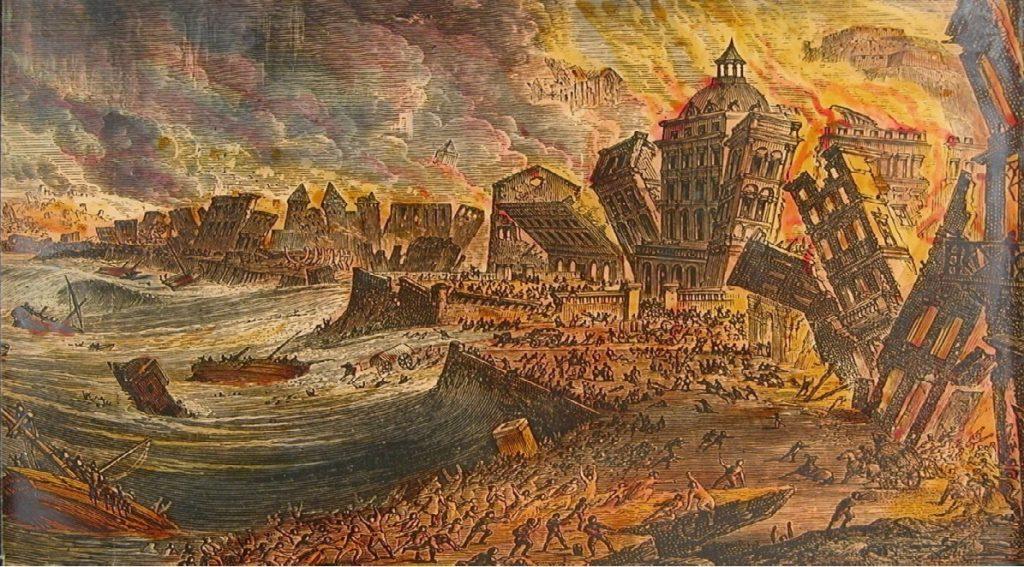 Chúa đã giáng thiên tai trừng phạt Lisbon của Bồ Đào Nha vào thế kỷ 18? - H1