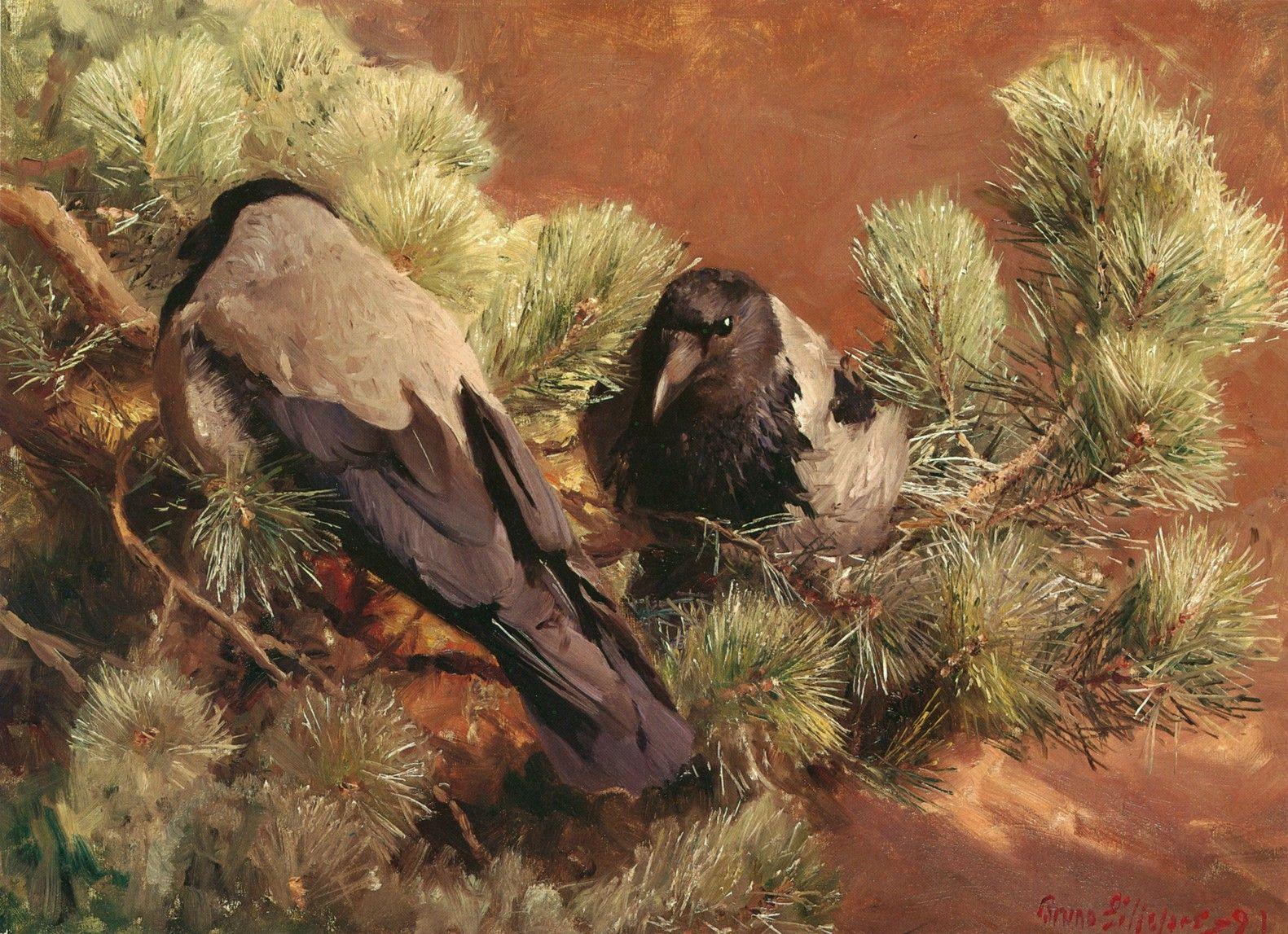 Loài quạ ngày Thất Tịch qua các tác phẩm hội họa thế giới. Ảnh 8