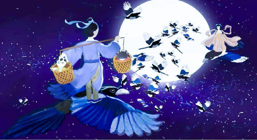 Loài quạ ngày Thất Tịch qua các tác phẩm hội họa thế giới. Ảnh 1