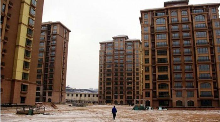 Một thành phố bỏ hoang của Trung Quốc.