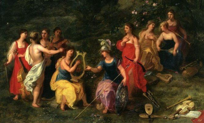 Tranh sơn dầu các Nữ Thần Muse.