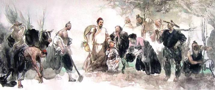 Người dân trồng mơ sau khi được chữa khỏi bệnh