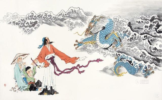 """Trương Tăng Dao """"vẽ rồng bay lên trời""""."""