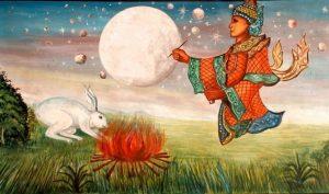 Trung Thu đọc sự tích Thỏ ngọc giã bánh Mochi trên cung trăng của Nhật bản