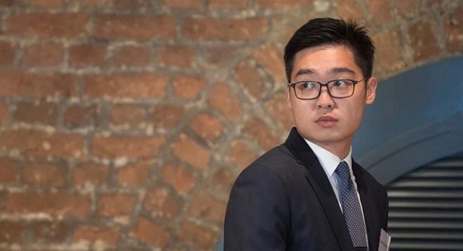 Andy Chan, 27 tuổi, là nhà sáng lập và Chủ tịch Đảng Quốc gia Hồng Kông ủng hộ hòn đảo này ly khai khỏi chính quyền ĐCSTQ. (Ảnh qua SCMP)