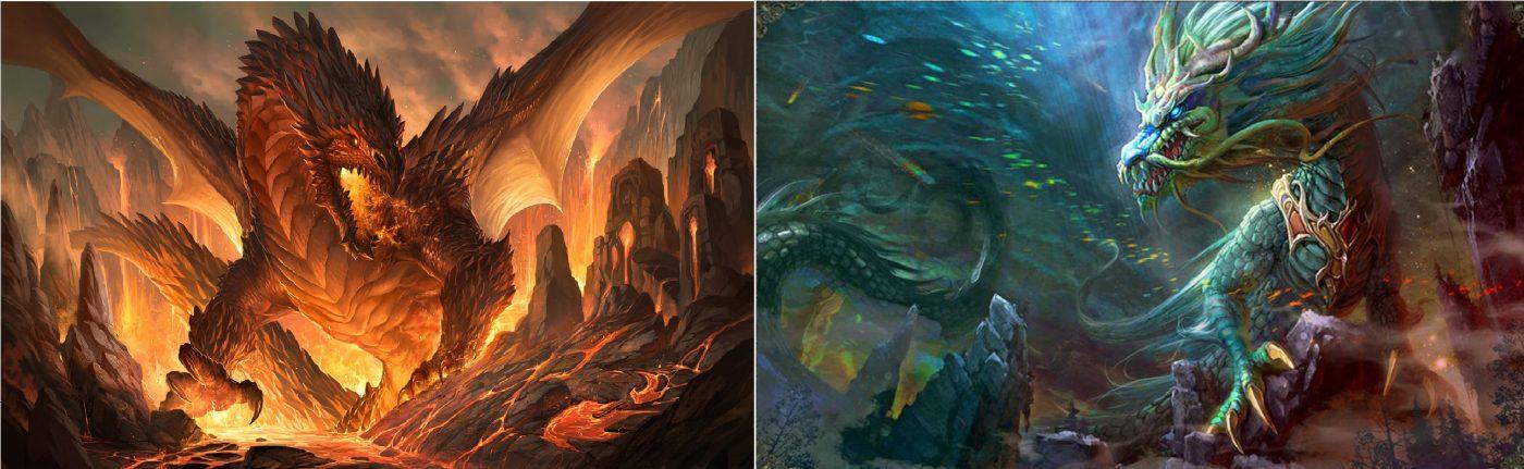 Long Sinh Cửu Phẩm – Rồng phương Tây và Rồng phương Đông