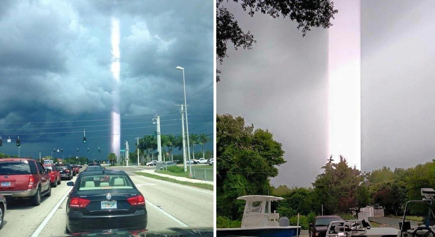 Hiện tượng lạ: Cột ánh sáng kỳ lạ xuyên thẳng từ trời xuống đất tại Thái Lan