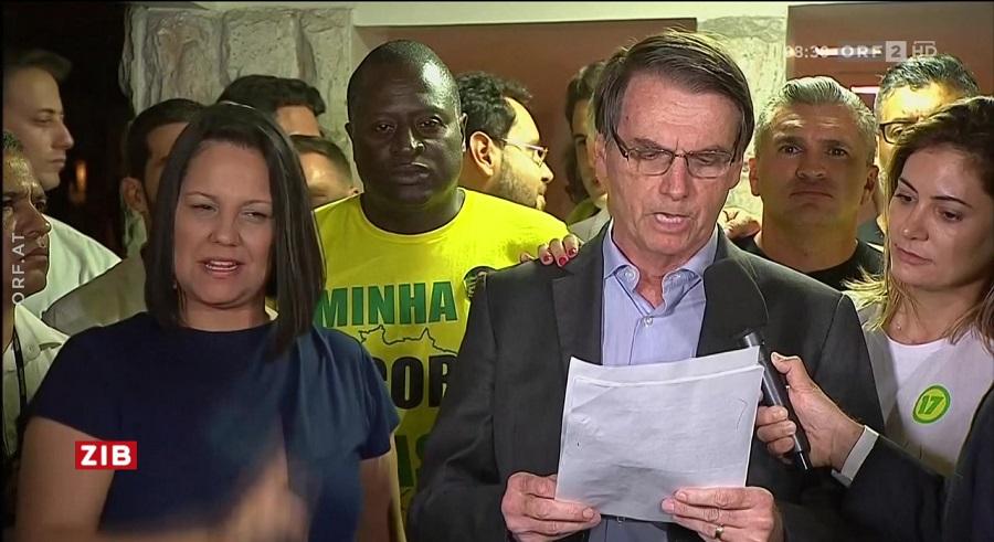Ông Jair Bolsonaro đọc diễn văn nhậm chức sau khi thắng cử Tổng thống Brazil