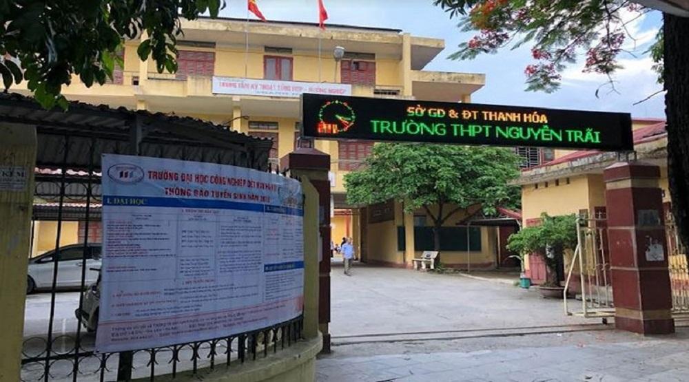 Trường THPT Nguyễn Trãi nơi xảy ra sự việc (Nguồn:internet)