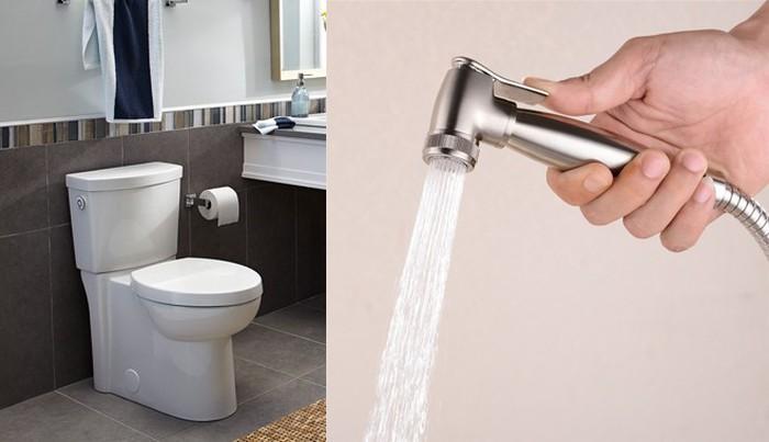Vòi xịt này dùng sau khi đi vệ sinh thôi.