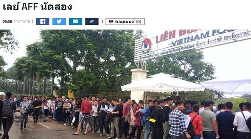 Báo Thái Lan: Chờ chực mua vé xem bóng đá ở sân Mỹ Đình - Cực kỳ điên rồ!. Ảnh 1
