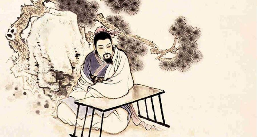 La Ngưỡng Sơn làm quan bị đồng liêu bài xích, xa lánh, buồn bã ngồi một mình
