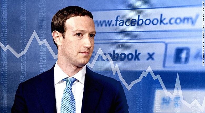Cổ phiếu Facebook liên tục rớt giá