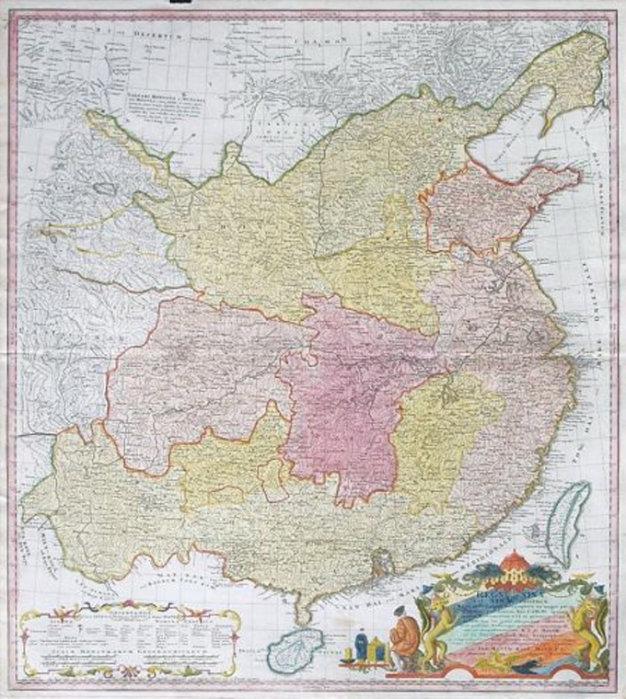Tấm bản đồ China Proper (Trung Quốc đích thực), do nhà bản đồ học người Pháp Jean-Baptiste Bourguignon d'Anville vẽ