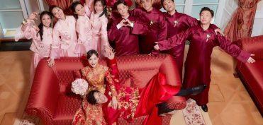 Đám cưới Đường Yên – La Tấn gây sốt với bộ áo cưới truyền thống thêu chỉ vàng