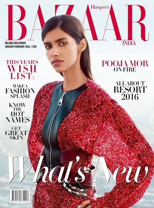 Pooja trên tạp chí BAZAAR (Ảnh: Epoch Times)