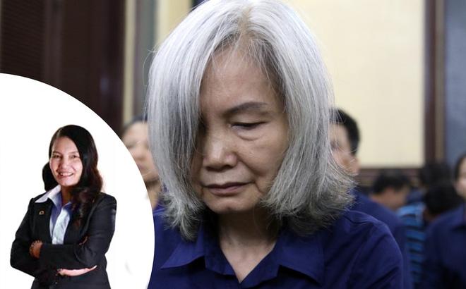 Bà Nguyễn Thị Kim Xuyến trước (ảnh nhỏ) và sau khi bị bắt.