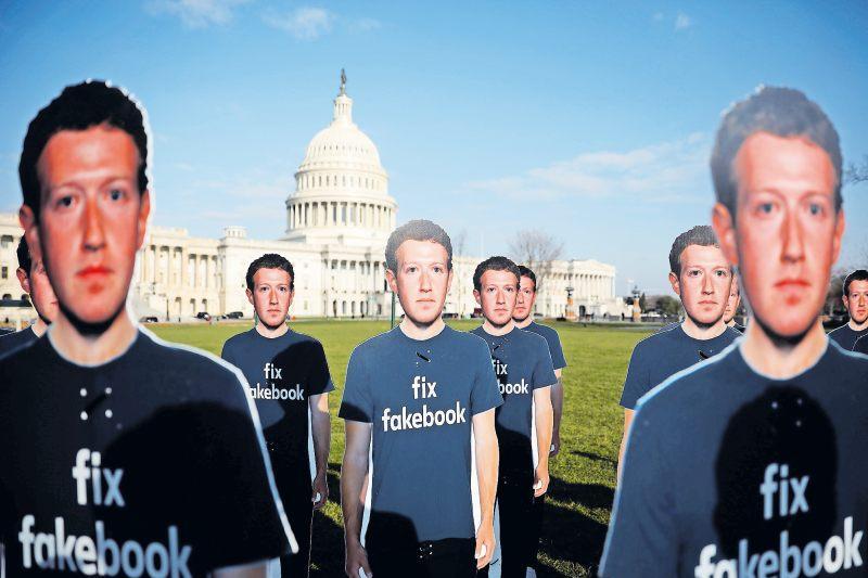 Hình ảnh về ông chủ Facebook Mark Zuckerberg. (Ảnh qua Die Rheinpfalz)