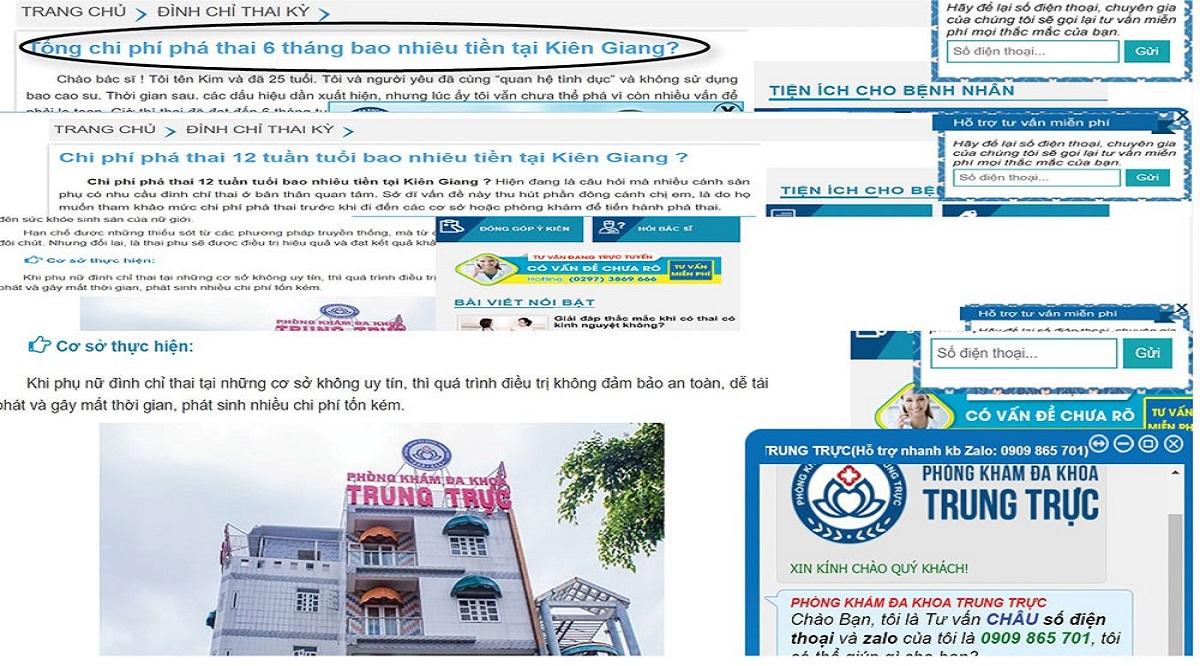 Phòng khám có người Trung Quốc: Thai lớn cỡ nào cũng... phá