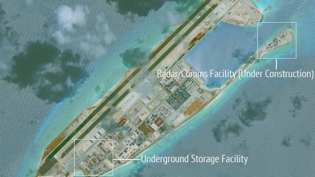 Đá Chữ Thập, quần đảo Trường Sa, Biển Đông, nơi Trung Quốc đặt trạm khí tượng thủy văn. (Nguồn: Internet)