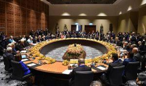 Bất đồng về vấn đề thương mại giữa các nước, đặc biệt giữa Mỹ và Trung Quốc, đã cản trở lãnh đạo các nền kinh tế APEC đưa ra tuyên bố chung bế mạc hội nghị. (Ảnh qua Reuters)