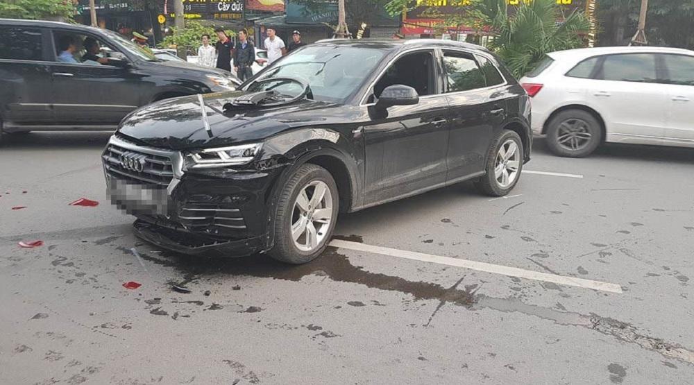 Xe Audi Q5 sau tai nạn.(Nguồn: Internet)