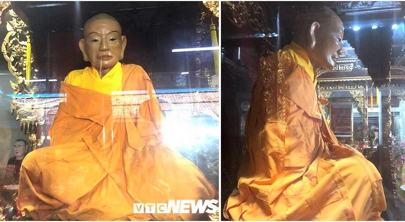 Nhục thân bất hoại của thiền sư Như Trí 300 năm vẫn không phân hủy. (Ảnh: VTCNews)