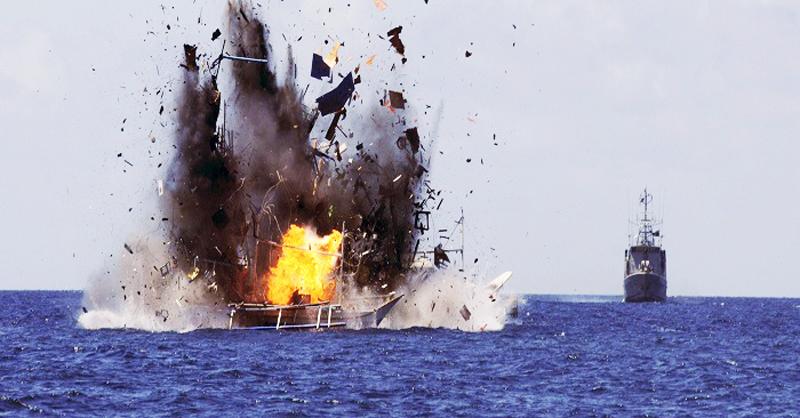 Điểm danh những lần tàu Trung Quốc bị bắn hạ trên biển Đông. Ảnh 1