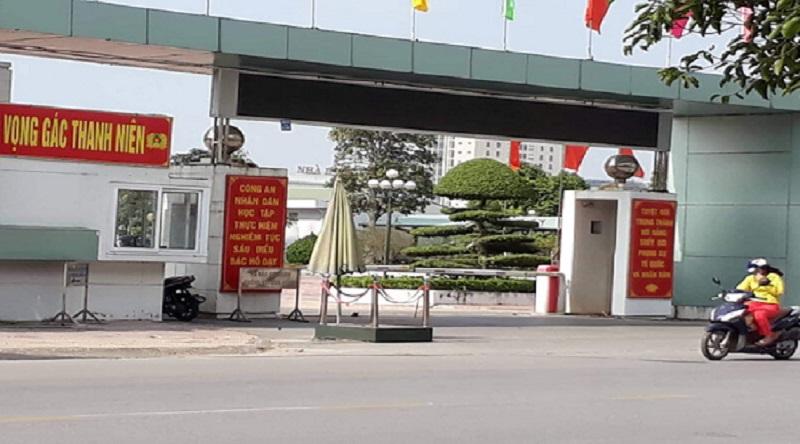 Cổng Công an tỉnh Thái Bình, nơi xảy ra sự việc. (Ảnh: Internet)