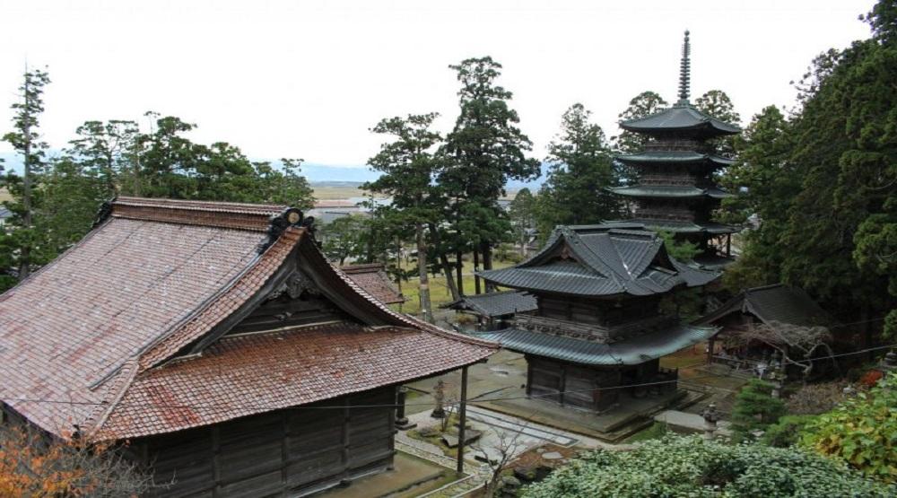 Ngôi đền trên đỉnh Yamagata, Nhật bản. (Nguồn:Internet)