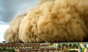 Bão cát khổng lồ cao gần 100m nuốt trọn tỉnh Cam Túc thuộc Trung Quốc