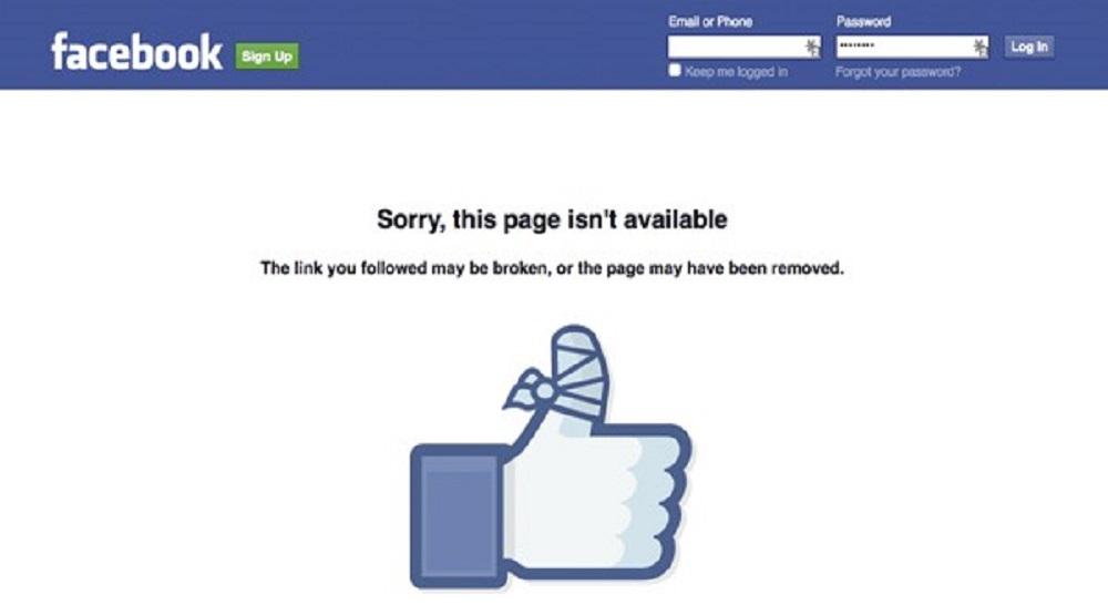 Facebook sập 2 lần trong 1 tháng. (Ảnh: Internet)
