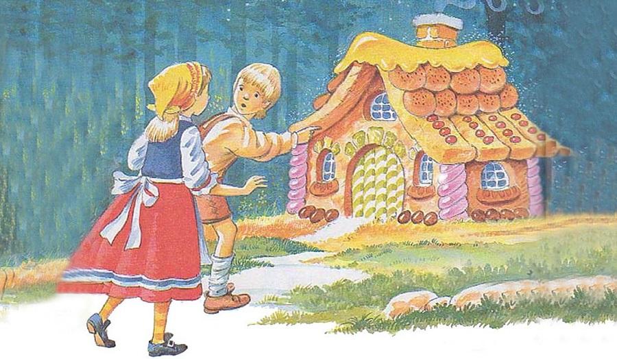 Hai anh em Hansel và Gretel. (Tranh minh họa qua Wattpad)
