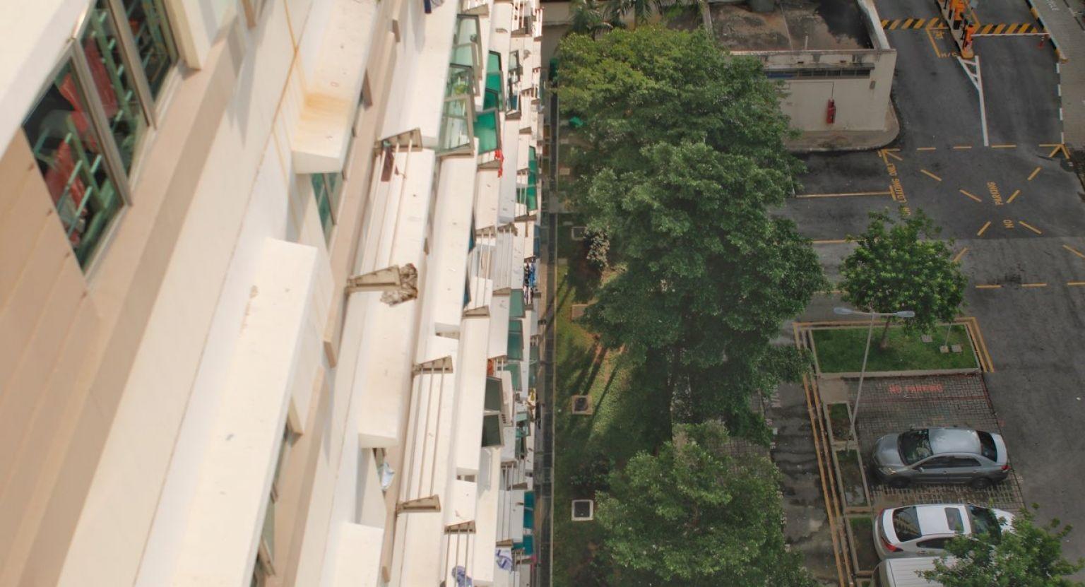 Khu chung cư nơi xảy ra sự cố. (Ảnh: Straits Times)