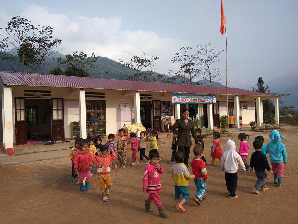 Đến nay Phạm Đình Quý đã xây được 72 điểm trường và hiện tại còn 10 điểm trường đang hoàn thành. Trong ảnh là trường mầm non Khâu Rom, xã Quảng Nguyên, huyện Xín Mần, tỉnh Hà Giang.