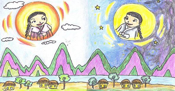 Truyện cổ tích Hàn Quốc: Mặt Trời và Mặt Trăng là 2 anh em