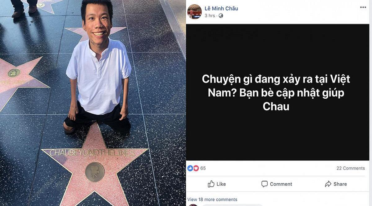Hình ảnh Lê Minh Châu và ngôi sao trên đại lộ Danh Vọng được ảnh chia sẻ trên facebook.(Nguồn: Internet)