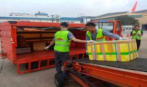 Hoạt động bốc xếp được thực hiện đúng chuẩn mực tại sân bay Tân Sơn Nhất.(Nguồn: Internet)