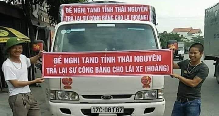 Tài xế nhiều tỉnh thành đồng loạt phản đối án oan sai của TAND Thái Nguyên.