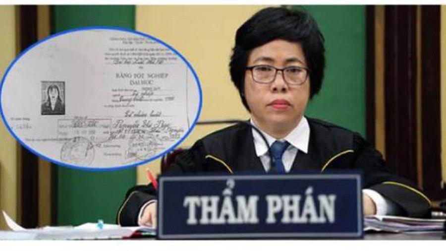 Vụ Thẩm phán TAND Thái Nguyên dùng bằng giả: Không phục hồi bằng cử nhân cho bà Nga