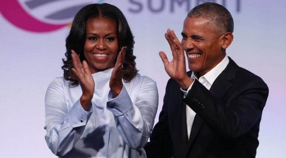 Ông Obama và phu nhân giới thiệu Quỹ Obama vào ngày 31/7/2017.(Ảnh: Internet)