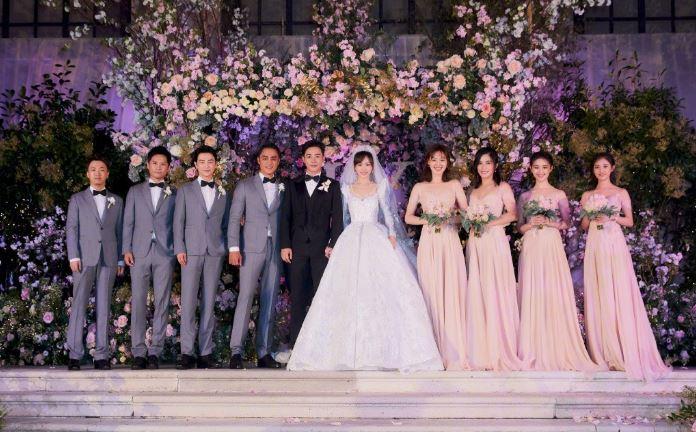 Đám cưới Đường Yên - La Tấn gây sốt với bộ áo cưới truyền thống thêu chỉ vàng - H1
