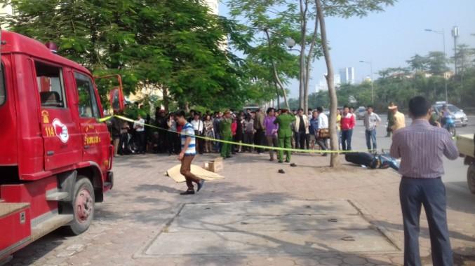 Hà Nội: Xe Cảnh sát PCCC cán chết người trên đường Võ Chí Công.2