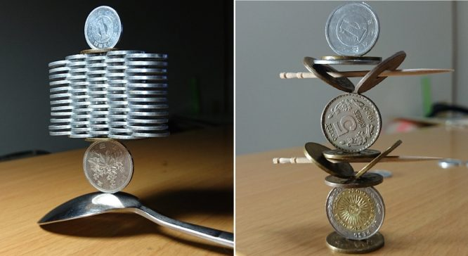 Nghệ thuật xếp đồng xu siêu đẳng của nghệ nhân người Nhật - H1