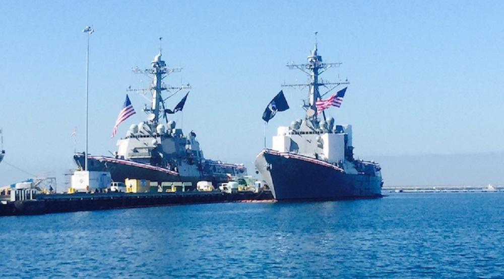 Mỹ thách thức Trung Quốc trên biển Đông. (Ảnh: Internet)