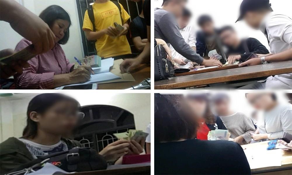 """Nườm nượp cảnh đóng tiền """"chống trượt"""" tại khoa Ngoại ngữ, Đại học Công nghiệp Hà Nội"""