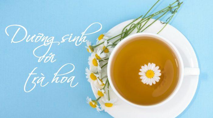 Nghề nhà giáo cần chú ý bảo vệ sức khỏe và dưỡng sinh bằng cách uống trà hoa.1