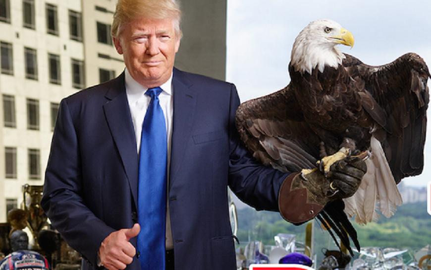 Tổng thống Trump trở thành diều hâu trong mắt Trung Quốc. (Nguồn: Internet)