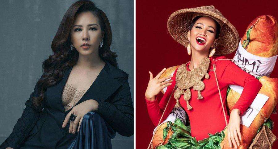 Hoa hậu Thu Hoài có những chia sẻ giữa thời điểm khán giả đang tranh cãi về bộ trang phục dân tộc được lấy ý tưởng từ bánh mì đường phố của H'Hen Niê.