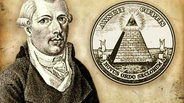 """Triết gia người Đức Adam Weishaupt là """"thủy tổ"""" của Hội kín Illuminati và chính là người tạo ra """"logo"""" kim tự tháp cho Hội."""